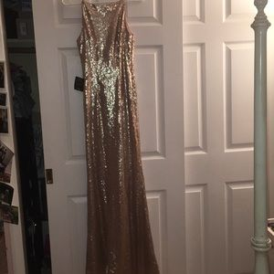 Champaign sequin gown
